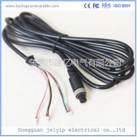 Wholesale 7 Pin 3 Terminal Extension Cable For Security Cameras , Black PVC Material from china suppliers