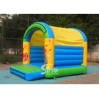 5x4 mts outdoor Let's party kids inflatable bouncy castle made with 610g/m2 pvc for sale
