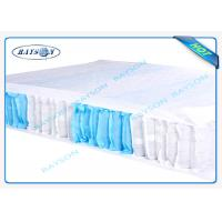 Wholesale 70 Gram White / Blue Color 47cm Width PP Non Woven Fabric For Box Spring Cover from china suppliers