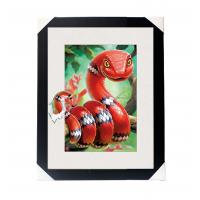 Wholesale Amazing 5D 30*40CM Lenticular Picture With PS Frame / 3D Animal Images from china suppliers