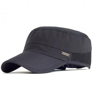 Wholesale Outdoor Sport Quick Drying Military Cadet Cap Men Breathable Army Flat Top Hat from china suppliers