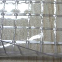 Wholesale Transparent Clear PVC Coated Big Hole Mesh Fabric for Curtain from china suppliers