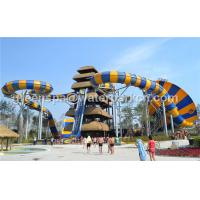 China 12m Tall Exciting Custom Water Slides Surf Water Amusement Park Equipment on sale