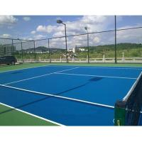China Polyurethane Commercial Rubber Gym Flooring For Baskebtall Court Colorful on sale