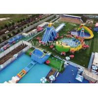 Wholesale Outdoor Amusement Inflatable Water Park With Giant Swimming Slide from china suppliers