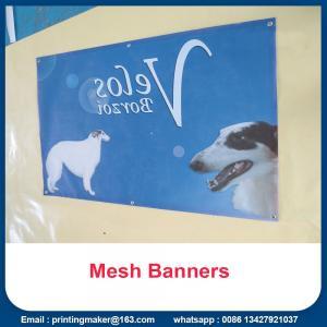 Buy cheap Advertising Plastic PVC Banner Printing Vinyl Mesh Signs from wholesalers