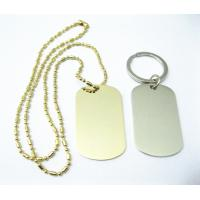 China Zinc Alloy Stainless Steel Dog Tags , Aluminum Material Custom Engraved Dog Tags on sale