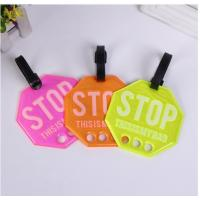 Wholesale Daily Use Beautiful PVC Luggage Tag Custom For Bags Cases PVLT-008 from china suppliers