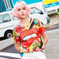 China Women's Fashion New Latest Design High Quality  Short Sleeve T Shirt with Printed for sale