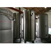 Quality ASME Certified Stainless Steel Air Receiver Tank Frosting Surface Treatment for sale
