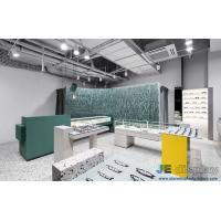 Wholesale Vigorous Eyeglass store interior design made by Green color painting display cabinets and Marble counters from china suppliers
