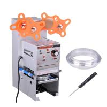 China Manual Semi-Auto Plastic Cup Sealing Machine For Milk Tea Fruit Juice for sale