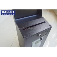 Quality Floor Standing Lockable Metal Ballot Box Rectangle For Donation for sale
