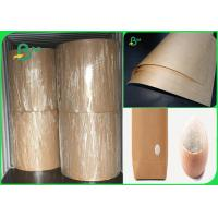 China 80gsm good breakage resistance high strength brown kraft paper for bags for sale