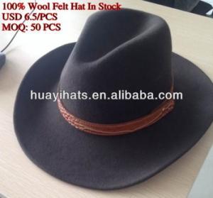 China Men 100% wool felt cowboy hat,folding cowboy hat on sale