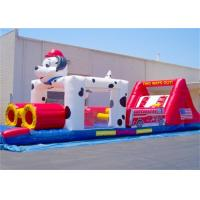 Quality Cartoon Inflatable Obstacle Course , Dog Inflatable Obstacle For Kid Playing for sale