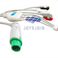 China Mennen 12pin  ECG cable with leadwires,TPU material patient cable for ecg machine for sale