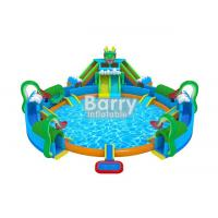 Wholesale 30 * 20 M Hawaii Themed Mini Inflatable Water Park With Big Swimming Pool from china suppliers