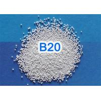 China Solid Round Ceramic Blasting Beads 2.3 G/Cm3 Bulk Density For 3C Products for sale