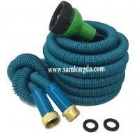 China 2017 Expandable Garden hose,75FT strongest garden hose, brass quick coupling, green color expanding garden hose on sale