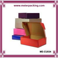 Wholesale Color printed corrugated paper shoes mailing box/Popular design rigid corrugated packaging box ME-CU034 from china suppliers