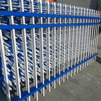 Wholesale Garden Steel Steel Palisade fence/Cheap Metal Zinc Steel Fence/New Design Safe Steel Wrought Iron Fence from china suppliers