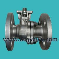 Wholesale JIS (KS)10K stainless steel flanged 2-PC ball valve with mounting pad from china suppliers