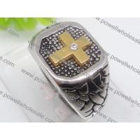 China The prevalent fashions cross Stainless Steel Gothic Rings on sale