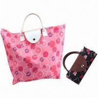 Buy cheap Foldable Promotional Gift Bags with Leather Handle, Measuring 19 x 12 x 4-inch from wholesalers