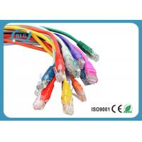 Wholesale Fluke Tested Lan UTP Patch Cord Cable Cat5e Full Copper Snagless Mold Injection Type from china suppliers