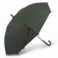 Buy cheap PE Auto Stick Umbrella with Check Printing, PP Matte Handle and Ferrule, from wholesalers