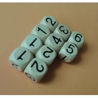 Wholesale wood number dice 20mm vanished wood toy dice from china suppliers