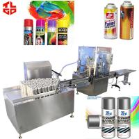 Pneumatic Chrome Spray Paint Filling Machines , Aerosol Tin Can Filling Machine for sale