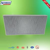 China Deep Pleated High Performance Air Filters Ceiling Aluminum Alloy Frame on sale
