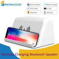 Wholesale 2019 Wireless Charging Phone Holder Portable Bluetooth Hifi Speaker with Power Bank for Sports,Video Entertainment Watch from china suppliers