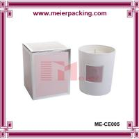 Wholesale Printed silver candle gift box, wholesale cardboard paper candle box ME-CE005 from china suppliers