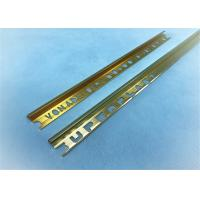Quality Arc Shape Aluminium Punched Profile Golden Polishing +-0.15mm Precision for sale