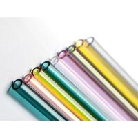 China Colored Straight Glass Drinking Straws , High Borosilicate Glass Straws on sale