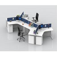 China Office Stand Computer Partition Workstation Tables With Cabinets Height Adjustable for sale