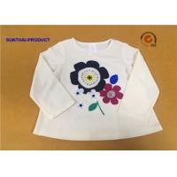Wholesale Long Sleeve Childrens Plain White T Shirts Crew Neck Screen Print For Girls from china suppliers