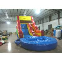Best sale rainbow inflatable water slide bright colour inflatable slide with pool for sale