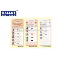 Quality C2S Uncoated Green Ballot Paper , Wood Pulp White Voting Paper With Your Own Logo for sale