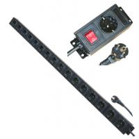 Wholesale Multi Plug 16 Way European Power Strip For Network / Laboratory / Factory 250V 16A from china suppliers