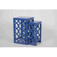 Wholesale Blue Modern Nesting Tables , Ergonomic Wooden Bedside Table 58 Cm Height from china suppliers