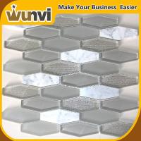 Wholesale Home Glass and Stone Mosaic Tile Backsplash water jet acid-proof from china suppliers