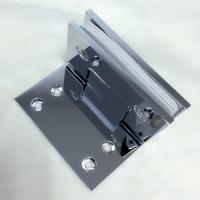 Wholesale long fixing plate 90x70mm brass chrome plated shower door hinge from china suppliers