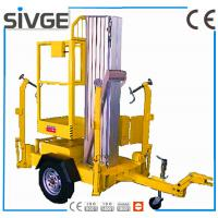 Quality Single Mast Hydraulic Elevating Platform , Aluminium Alloy 8m Trailer Mounted Lift for sale