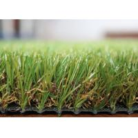 Outdoor Landscaping Fake Grass Long Life Span Artificial Grass For Rooftop / Deck