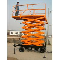 Wholesale 500kg Capacity Scissor Lift Platform , Moblie Lifting Plateform 6m Lifting Stroke from china suppliers