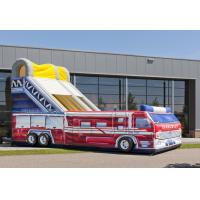 Wholesale Customized Fire Truck Adult Inflatable Slide Party Event Rent Inflatable Slides from china suppliers